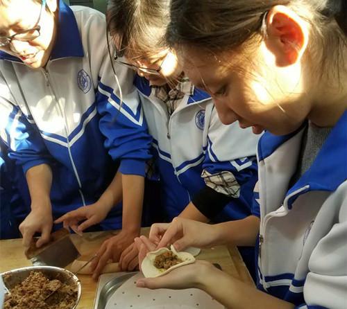 赴丰台区职教中心实践体验美食课程