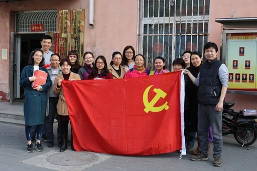 共创首都文明示范区,北京十二中党员教师在行动
