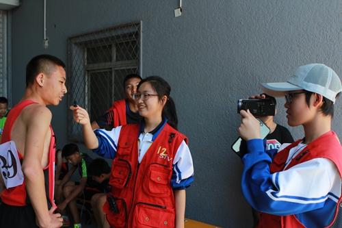 参与北京市基地校运动会全场报道