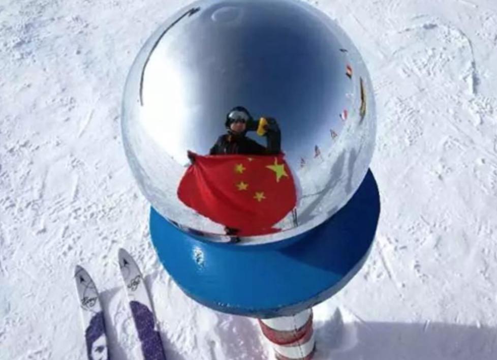 中国女性第一人!我校2000届校友冯静越野滑雪抵达南极点